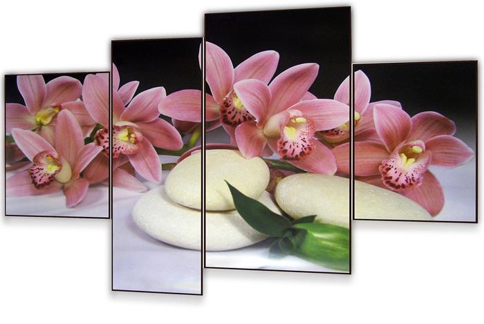 Картина модульная Dekart Розовая орхидея, 100 х 70 х 4 см модульные системы в графическом дизайне