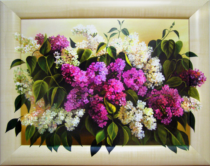 Картина Dekart Сирень 2, 61,5 х 81,5 х 2 см сирень картина верность 60 40 см