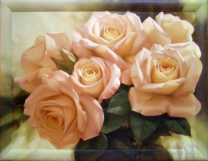 Картина Dekart Чайные розы, 8Л0884, 75 х 101,5 х 2 см8Л0884Картина Чайные розы - привлекательная деталь, которая поможет воплотить интерьерную идею, а также создать неповторимую атмосферу в доме.Репродукции с дорисовкой на раме.Каждый Aрт по-своему уникален как результат мастерства и ручного труда художника по продолжению рисунка на раму из натурального дерева (ольха).
