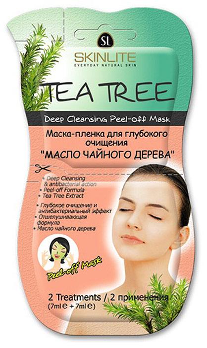 """Skinlite Маска-пленка для глубокого очищения """"Масло чайного дерева"""" (2 применения)"""
