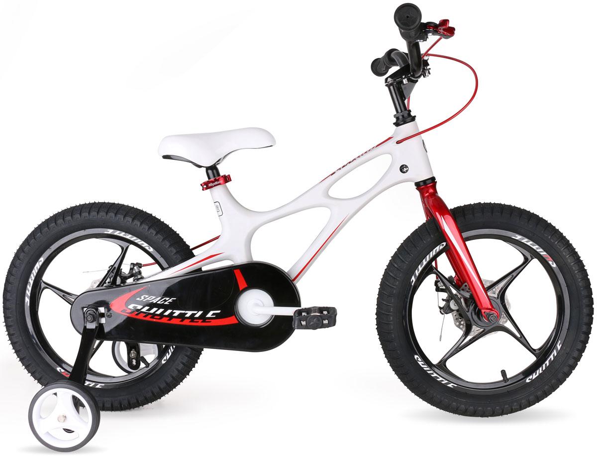 Велосипед Royal Baby Space Shuttle 16, цвет: белый велосипед 3 х колесный moby kids comfort 12x10 air car1 красный 641084