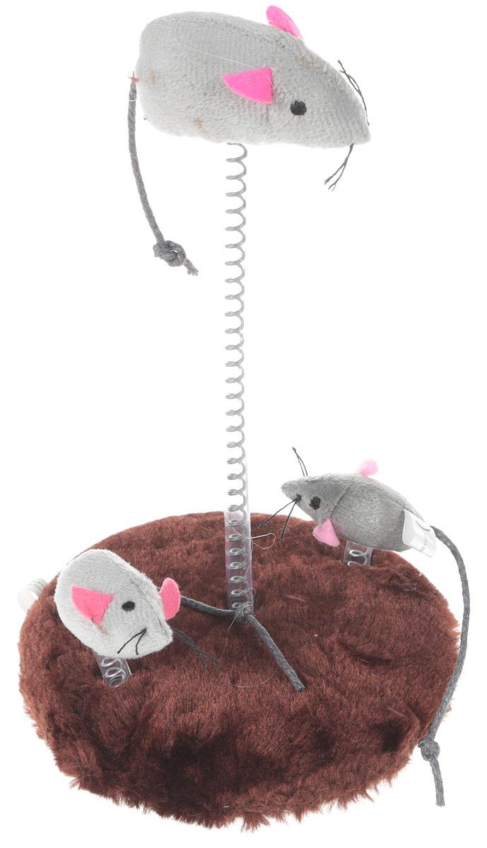 "Игрушка для кошек Trixie ""Мышь"", на подставке"