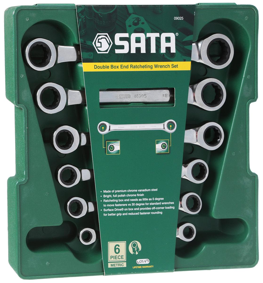 Набор ключей SATA 6пр. 09025 набор ключей sata 09033 7пр комбинированные укороч metric пласт кор