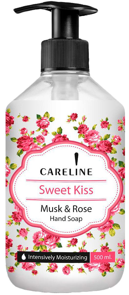 Careline Жидкое мыло для рук Поцелуй с ароматом мускусной розы, 500 мл мыло с колд кремом авен