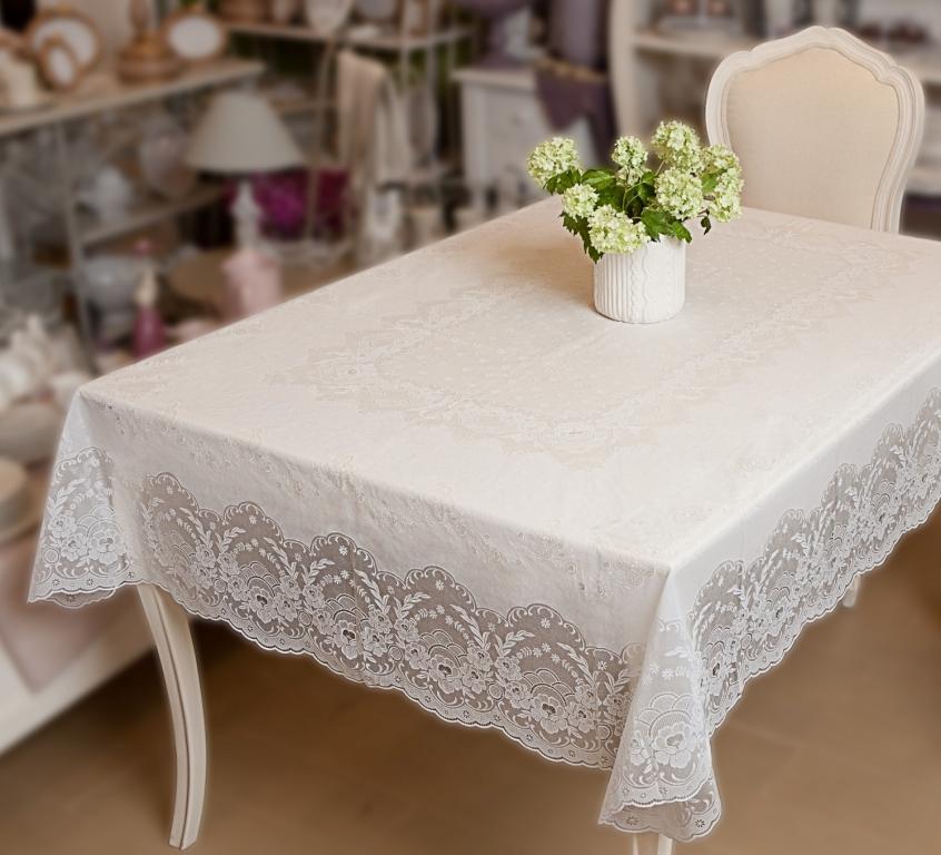 Скатерть Niklen, цвет: белый, 120 х 150 см скатерть квадратная 137х137 niklen