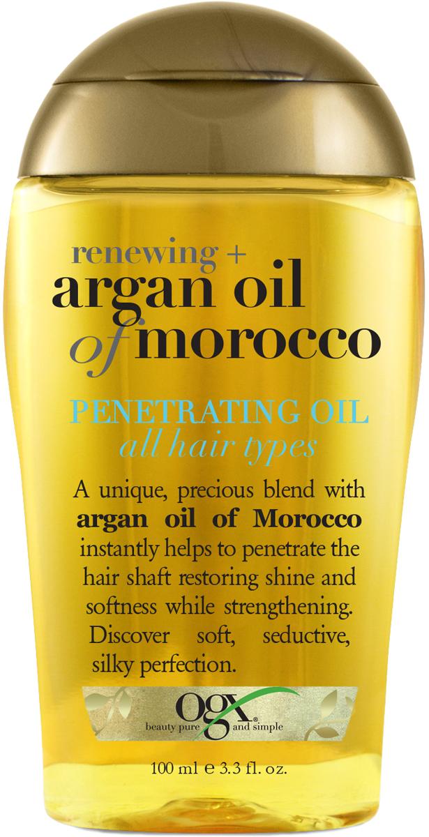 OGX Масло Аргановое Марокко для глубокого восстановления волос, 100 мл кондиционер ogx аргановое масло марокко 385мл восстанавливающий