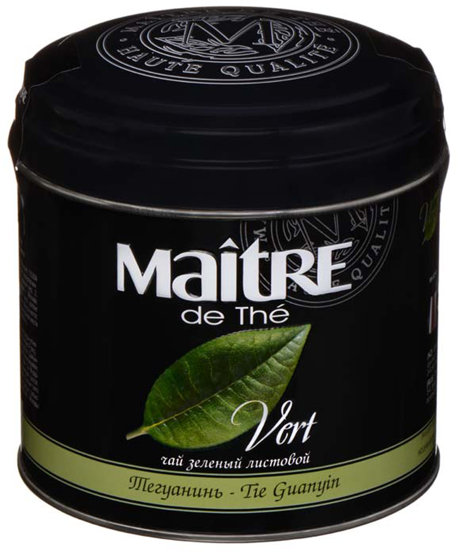 Maitre чай зеленый тегуанинь, 100 г цена и фото