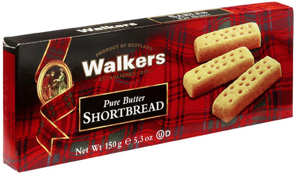 Печенье песочное Пальчики Walkers, 150 г печенье песочное пальчики walkers 40 г