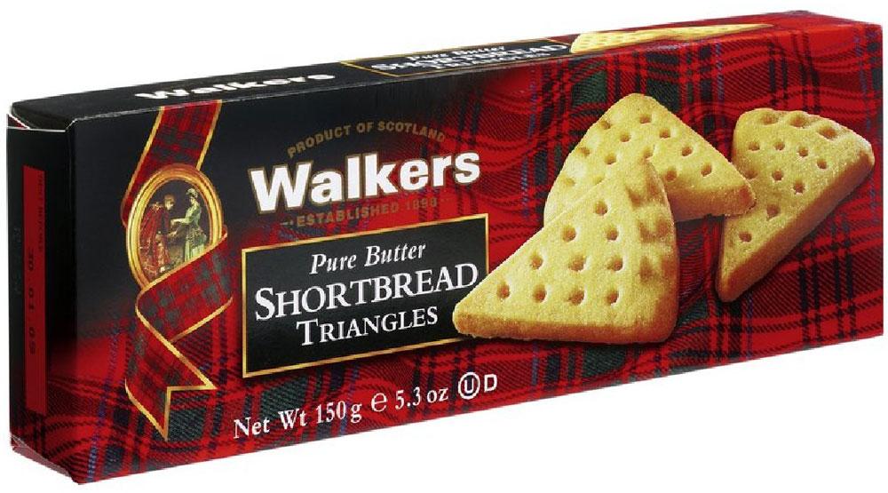 Печенье песочное Треугольнички Walkers, 150 г печенье песочное пальчики walkers 40 г