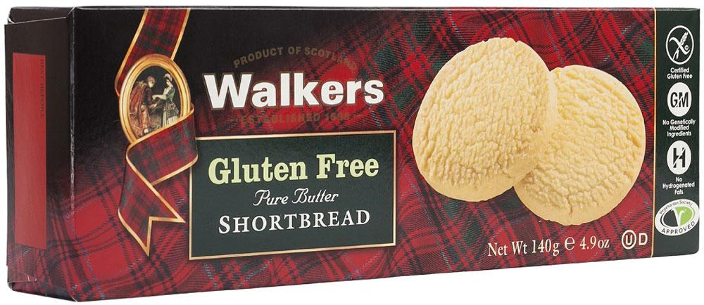 Печенье песочное без глютена круглое Walkers, 140 г печенье песочное пальчики walkers 40 г
