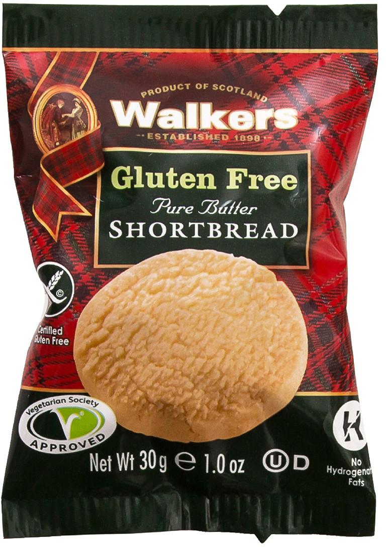 Печенье песочное без глютена круглое Walkers, 30 г печенье песочное пальчики walkers 40 г