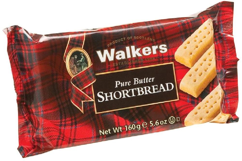 Печенье песочное Пальчики Walkers, 160 г печенье песочное пальчики walkers 40 г
