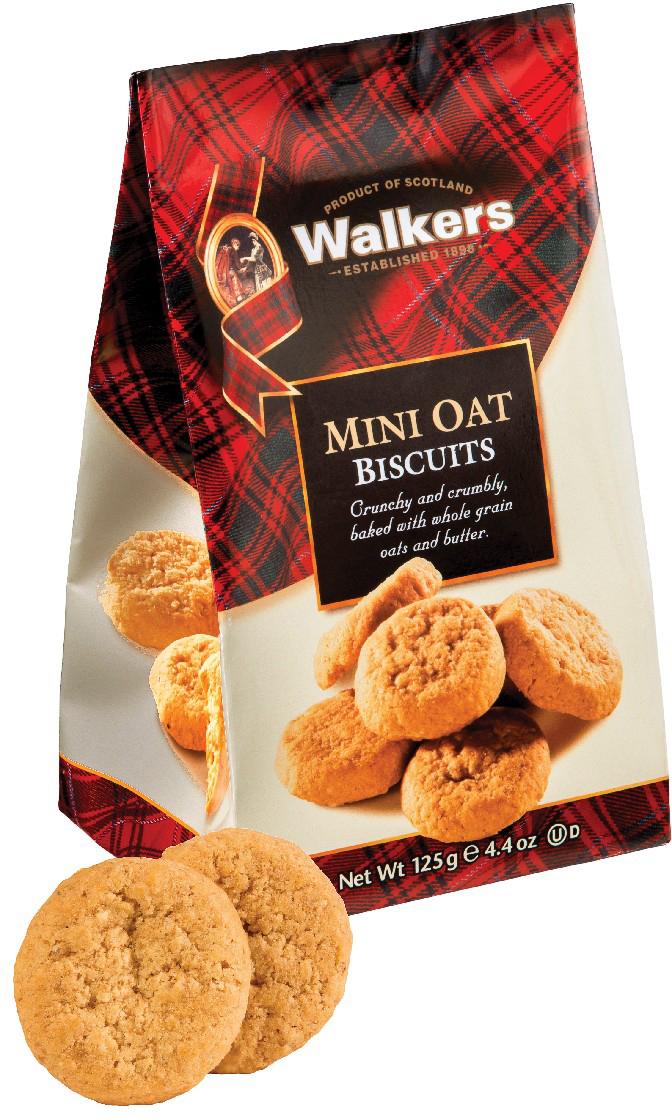 Мини-печенье овсяное Walkers, 125 г печенье песочное пальчики walkers 40 г