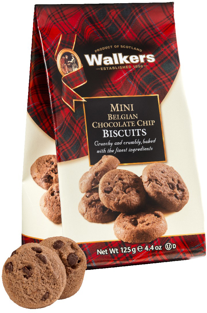 Мини-печенье С бельгийским шоколадом Walkers, 125 г печенье песочное пальчики walkers 40 г