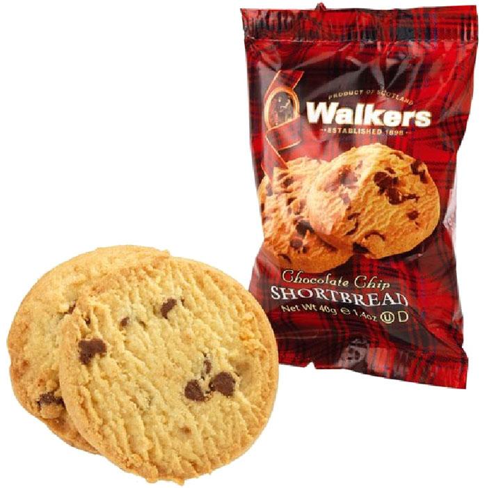 Печенье песочное С шоколадной крошкой Walkers, 40 г печенье песочное пальчики walkers 40 г