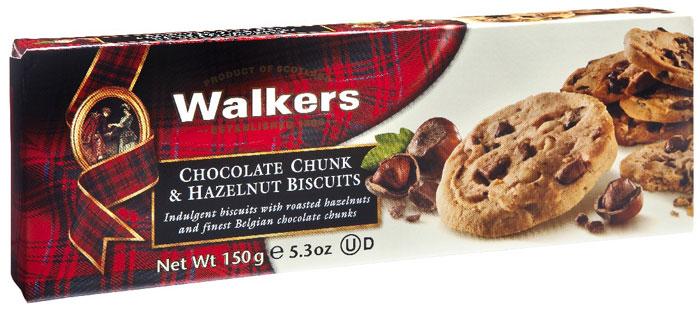 Печенье шоколадная Крошка и фундук Walkers, 150 г печенье песочное треугольнички walkers 170 г
