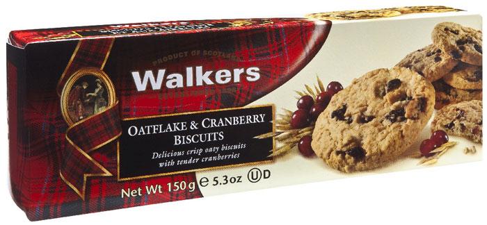 Печенье Овсяные хлопья и клюква Walkers, 150 г смесь для выпечки почти печенье клюква шоколад 380 г
