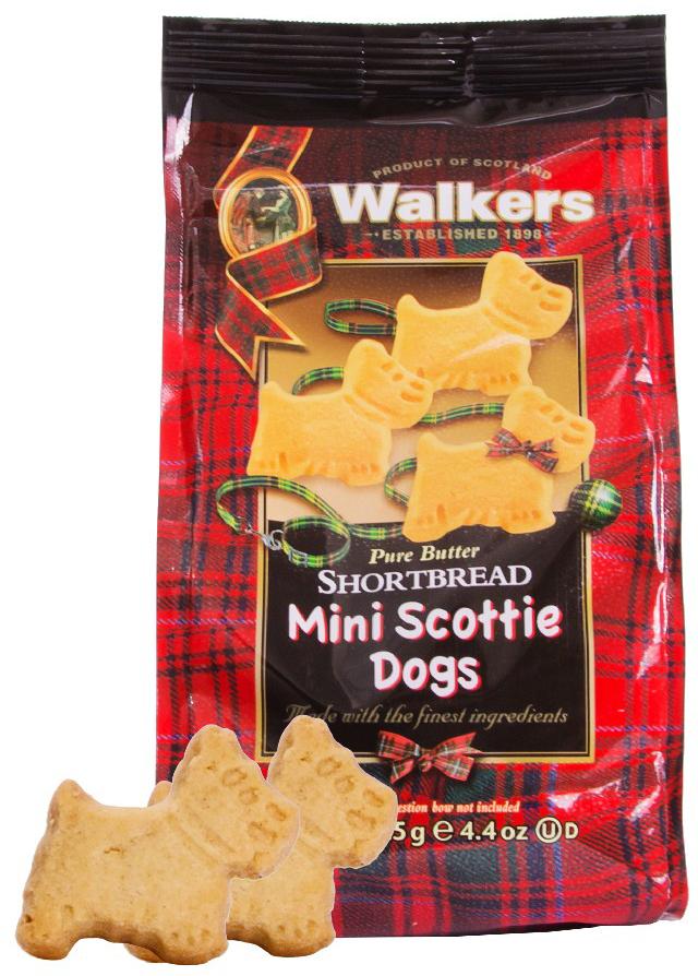 Walkers Мини-печенье песочное шотландский терьер, 125 г печенье песочное пальчики walkers 40 г