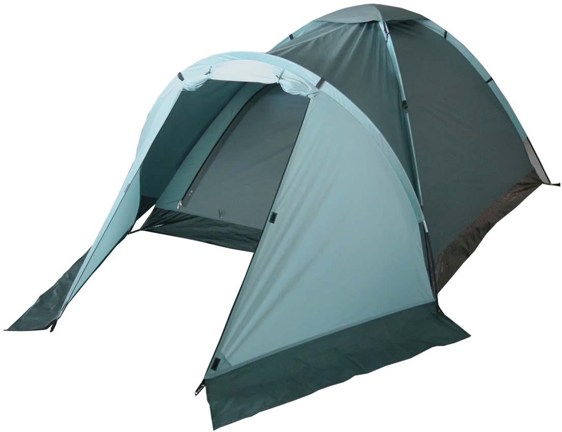 Палатка туристическая Campack Tent Lake Traveler 4, цвет: светло-зеленый, темно-зеленый