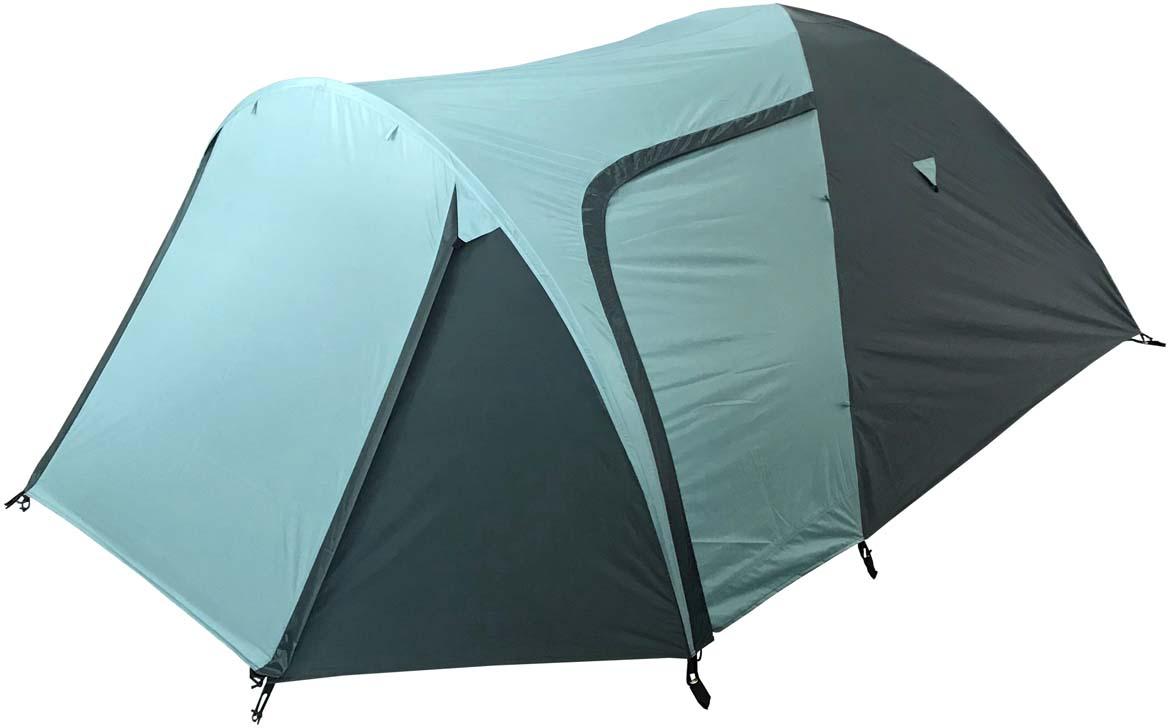 Палатка туристическая Campack Tent Camp Traveler 4, цвет: светло-зеленый, темно-зеленый