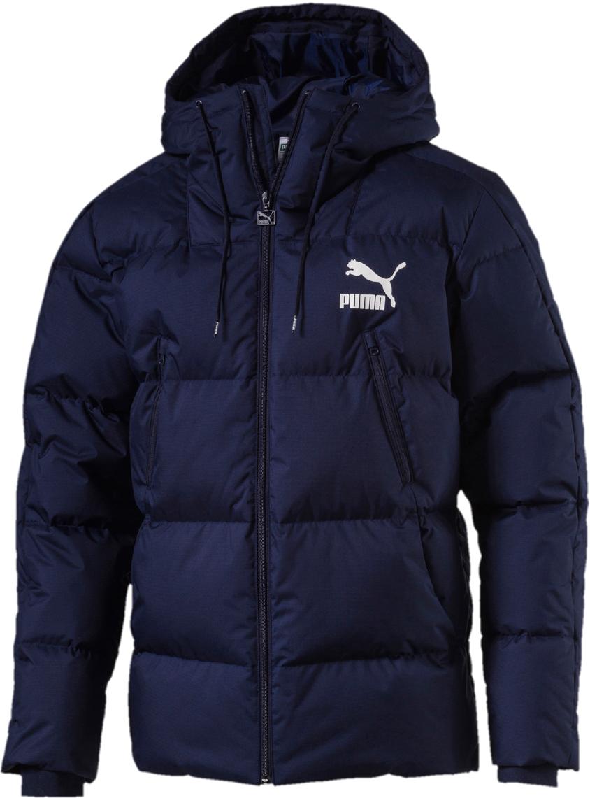 Куртка PUMA Classics Padded Jacket stand collar zip up geometric camo padded jacket