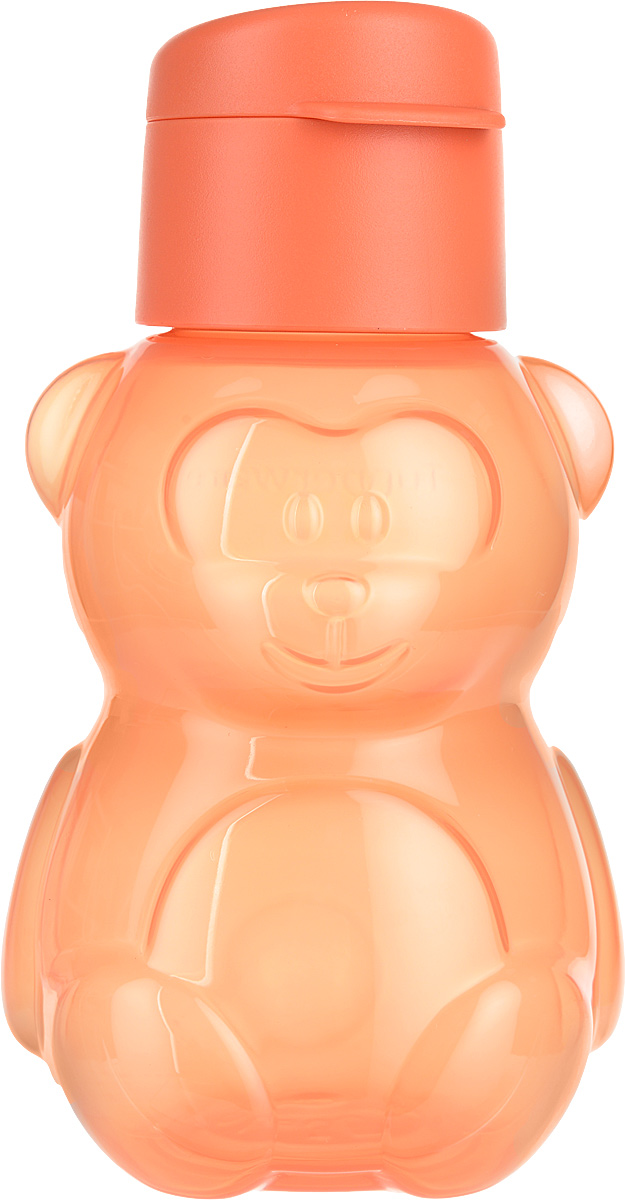 Эко-бутылка Tupperware Мишка, детская, 350 млИ21Крышка с клапаном надежно закрывает сливное отверстие.Бутылочка легкая и экологически безопасна для детей.Оригинальный образ Мишка сделает бутылочку лучшим другом малыша.Понадобится дома, во время прогулок или путешествий.Форма изделия учитывает достижения науки эргономики. Эко - бутылка удобно ложится в ручки ребенка.Изделие вмещает в себя один стакан воды. Миниатюрный размер позволяет положить ее во внутренний карман куртки или ветровки.