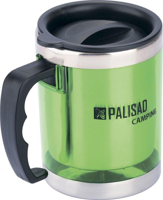 Термокружка Palisad Camping, с крышкой-поилкой, цвет: зеленый, 300 мл
