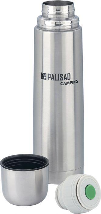 Термос с клапаном Palisad Camping, с клапаном, цвет: серебристый, 750 мл термос с клапаном palisad camping с клапаном цвет зеленый 500 мл
