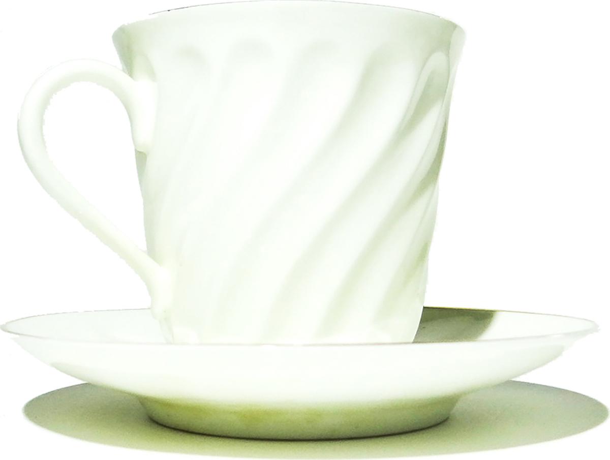 Чашка с блюдцем. Костяной фарфор, позолота. ЛФЗ, СССР, вторая половина ХХ века чашка с блюдцем маленькие розы фарфор ссср середина xx века