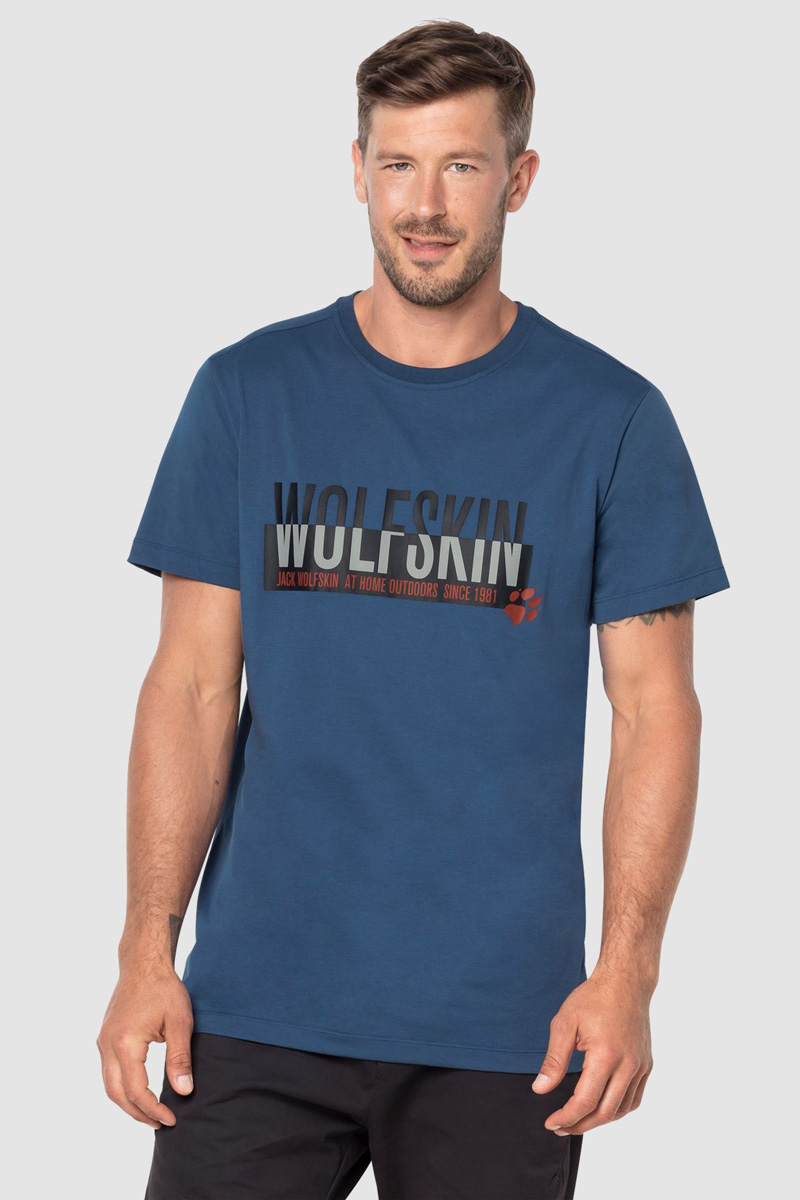 Футболка Jack Wolfskin Slogan T Men slogan print tee