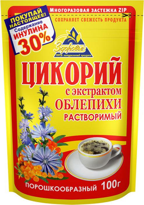 Цикорий натуральный растворимый с облепихой Здоровье, 100 г цикорий растворимый натуральный fitolain 100 г