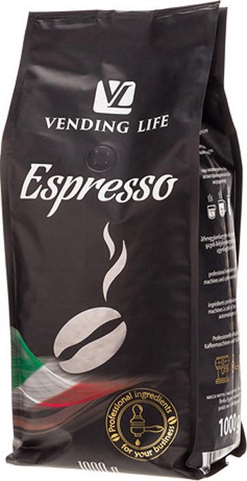 Vending Life Espresso кофе в зернах, 1 кг цена и фото