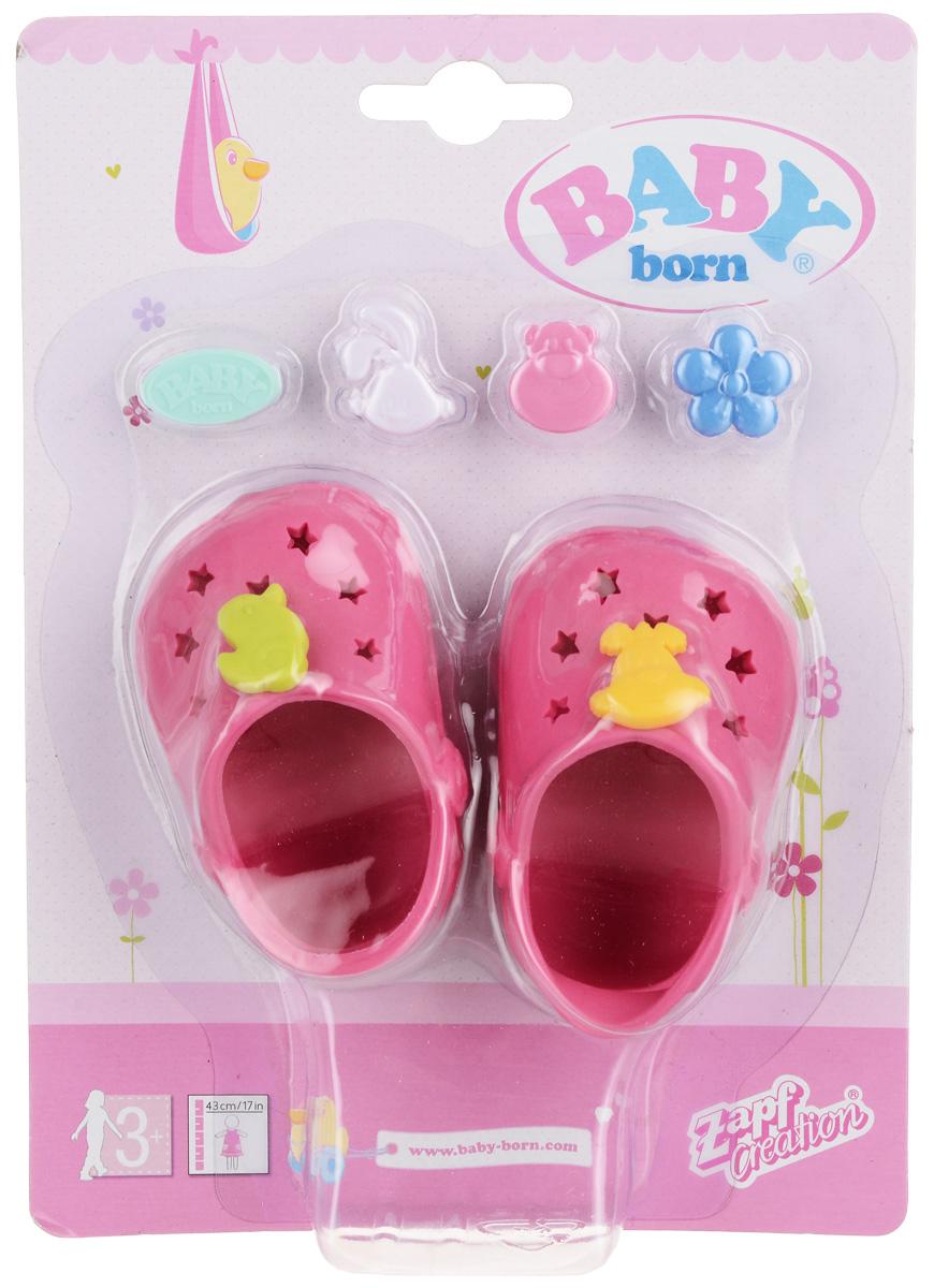Zapf Creation Сандалии фантазийные для куклы Baby Born цвет темно-розовый zapf creation сандали фантазийные baby born оранжевые