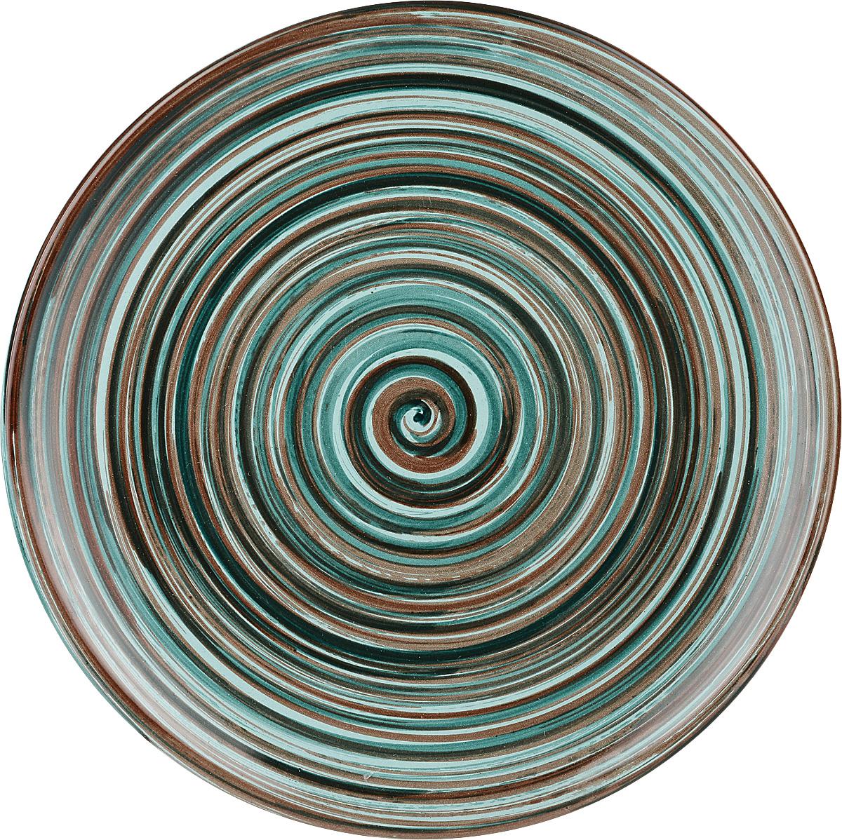 """Тарелка Борисовская керамика """"Радуга"""", диаметр 18 см. РАД14458120_рисунок"""