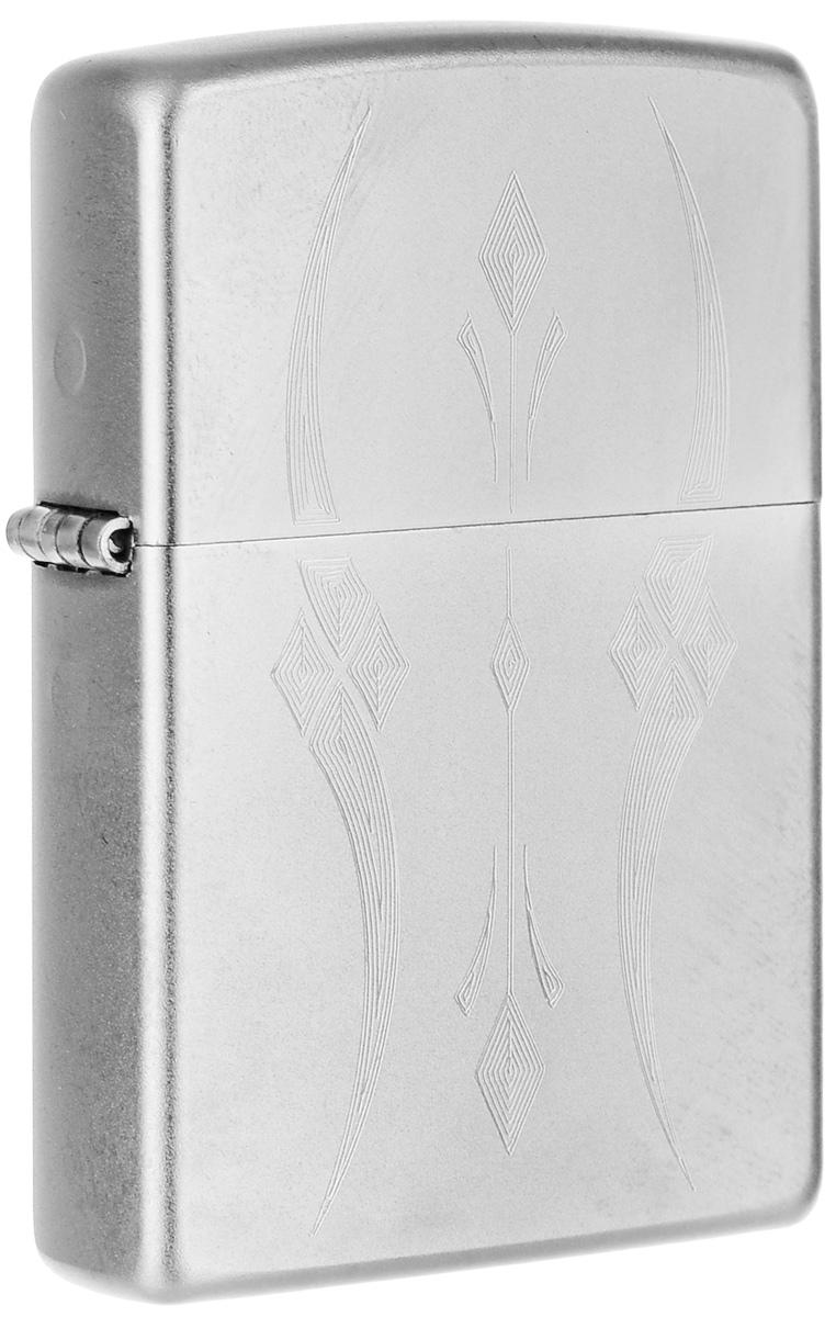"""Зажигалка Zippo """"Classic"""", цвет: серебристый, 3,6 х 1,2 х 5,6 см. 32424"""