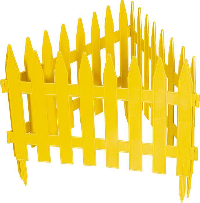"Забор декоративный Palisad ""Рейка"", цвет: желтый, 28 см х 3 м"