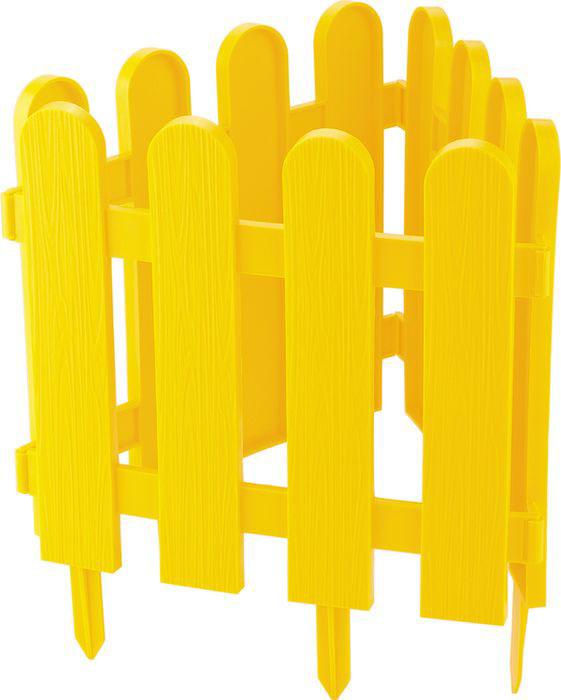 "Забор декоративный Palisad ""Классика"", цвет: желтый, 29 см х 2,24 м"