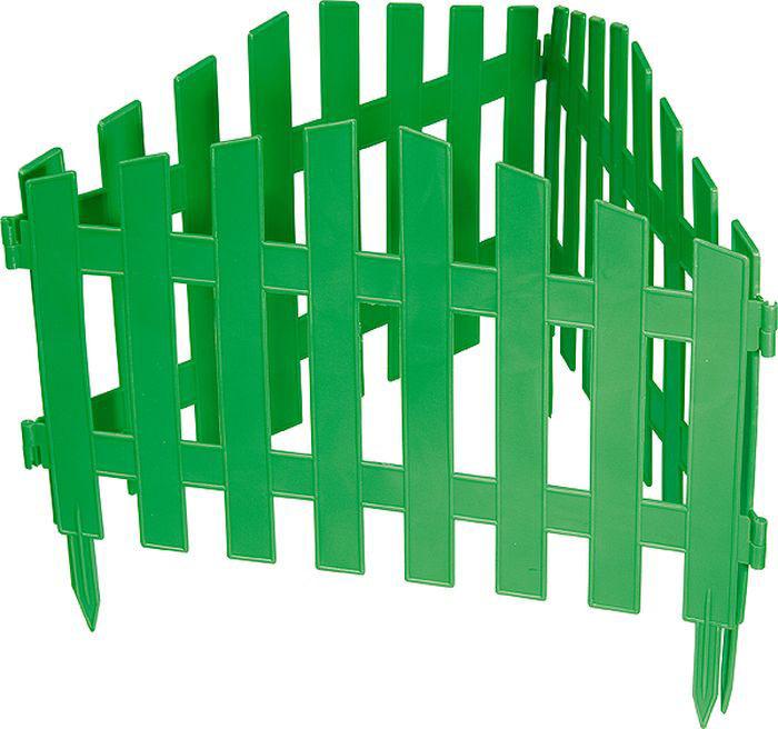 """Забор декоративный Palisad """"Марокко"""", цвет: зеленый, 28 см х 3 м"""