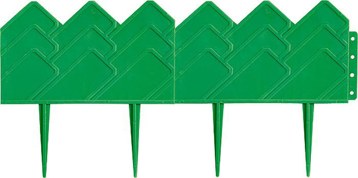 """Бордюр садовый Palisad """"Кантри"""", цвет: зеленый, 14 см х 3,1м"""