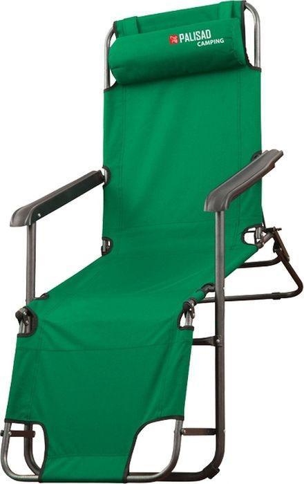Кресло-шезлонг Palisad Camping, двухпозиционное, 156 х 60 х 82 см стол складной palisad camping 69582
