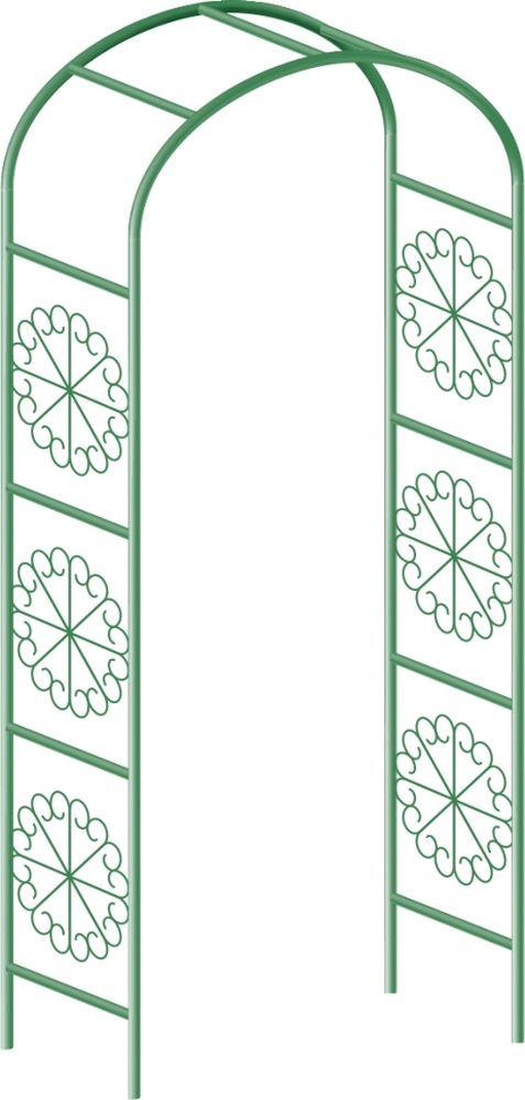 Арка для вьющихся растений Palisad, садовая, 228 х 130 см пирамида садовая декоративная для вьющихся растений palisad 69127