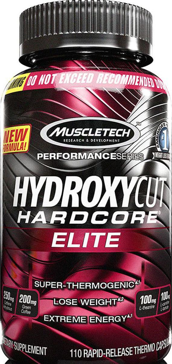 Жиросжигатель MuscleTech Hydroxycut Hardcore Elite, 110 капсул бады йохимбе