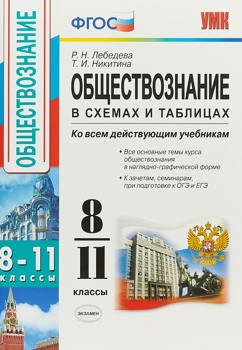 Р. Н. Лебедева, Т. И. Никитина Обществознание в схемах и таблицах. 8-11 классы. Ко всем действующим учебникам
