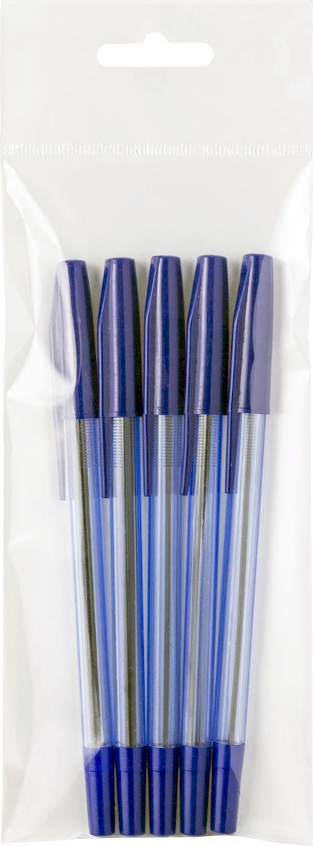 Фото - Набор шариковых ручек Index Goody, цвет чернил: синий, 5 шт набор шариковых ручек index 4 шт прозрачный корпус масляные чернила 0 5 мм синие ibp800 s4 1