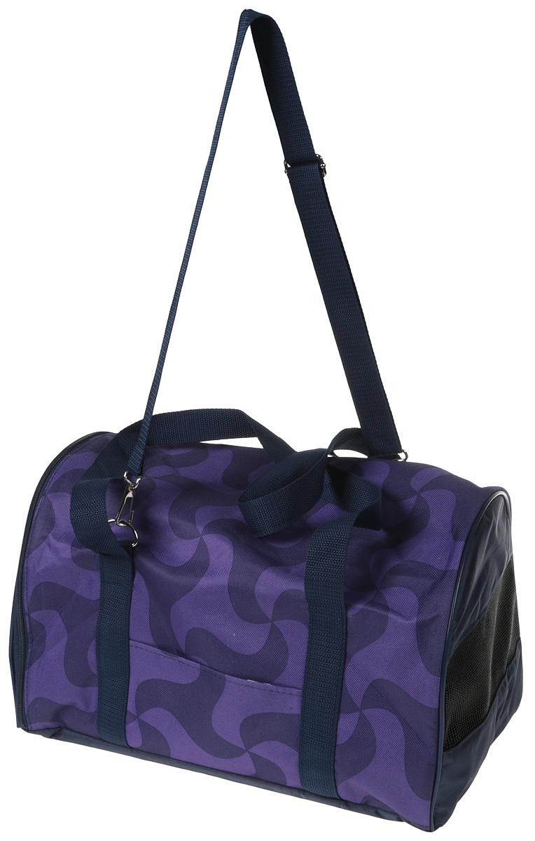 Сумка-переноска для животных Теремок, цвет: фиолетовый, синий, 40 х 23 х 23 см сумка переноска для животных теремок цвет фиолетовый синий 40 х 23 х 23 см