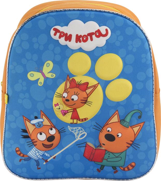 Три Кота Рюкзак дошкольный цвет оранжевый голубой CTFP-UT1-E195