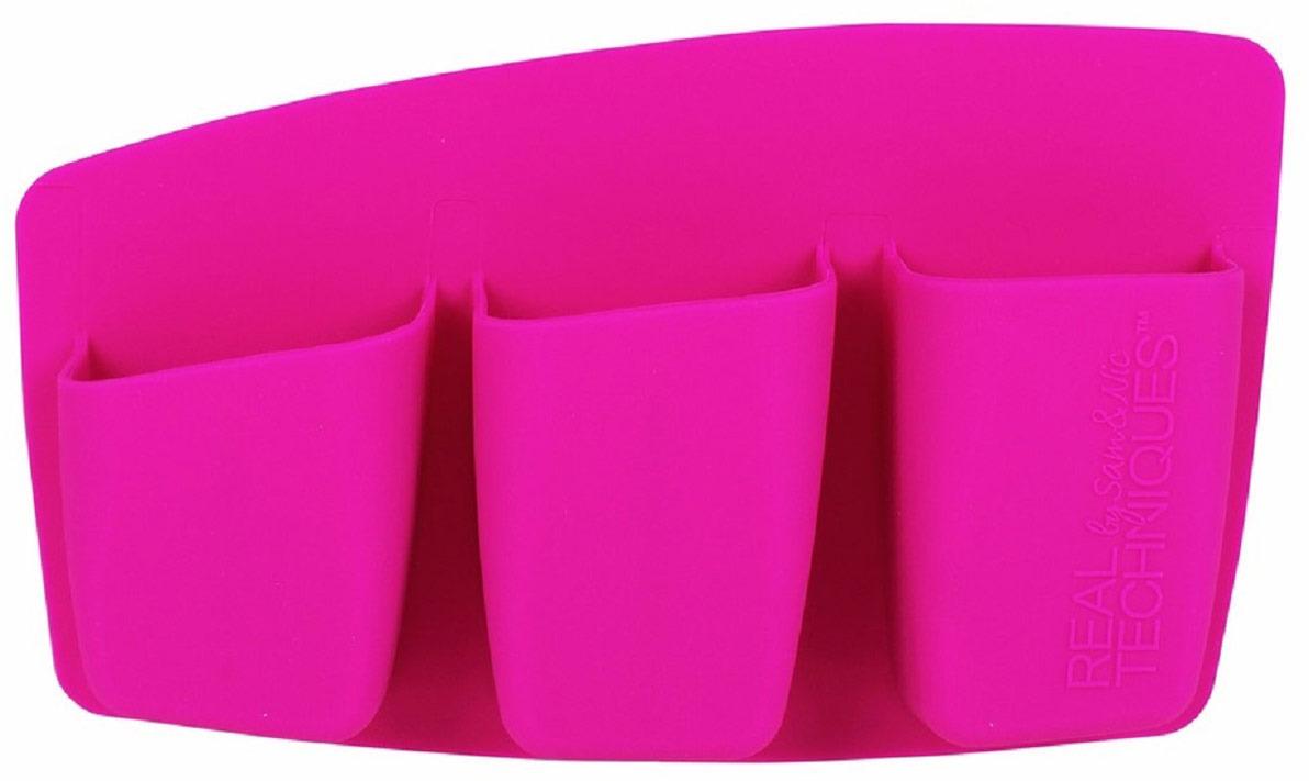 Real Techniques Органайзер для хранения кистей 3 Pocket Expert Organizer, цвет: розовый