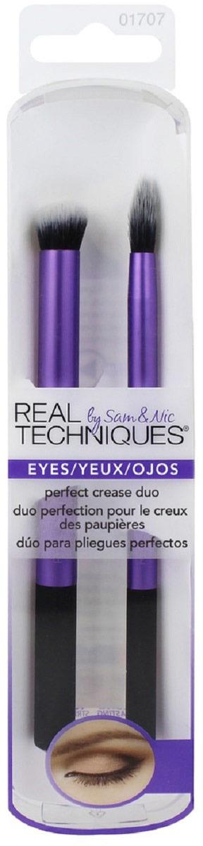 Real TechniquesНабор кистей для макияжа глаз Perfect Crease Duo Real Techniques