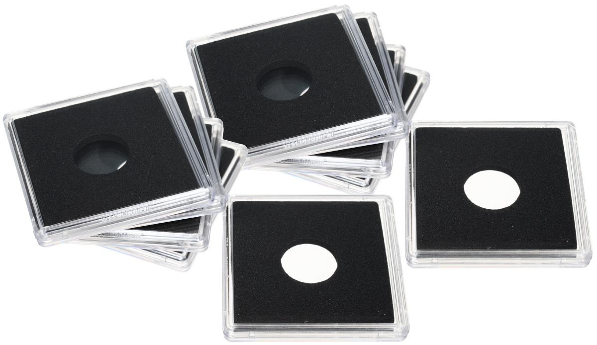 Капсулы для монет Leuchtturm Quadrum, диаметр 16 мм, 10 шт411898Благодаря капсулам Quadrum вы сможете разместить почти всю коллекцию в одной системе. Они обеспечивают оптимальную защиту каждой монеты. Капсулы, устойчивые к царапинам, выполнены из пластика, а вкладыш точно подходит по размеру для всех ходовых монет. Плотно закрываются и в то же время легко открываются.Характеристики: - Размер капсулы: 5 см x 5 см х 0,6 см. - Внутренний диаметр капсулы: 16 мм. - Количество: 10 шт.