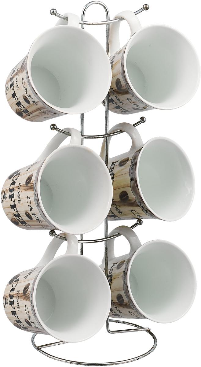 Набор кружек Bekker, 360 мл, 7 шт. BK-8000 набор мерных емкостей bekker 4 шт